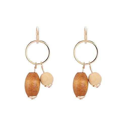 Qingerda Vintage Holz Ohrringe Ohrringe Sen Mädchen Ohrringe wilde Holz geometrische Ohrringe