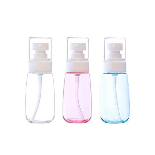 Suvox - 3 botellas de plástico vacías y recargables, para loción, crema, aceite esencial, jabón, viaje, recipiente pequeño, 60 ml