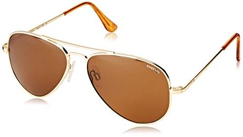 Randolph Concorde Aviator Sunglasses, Matte Black, 57 mm