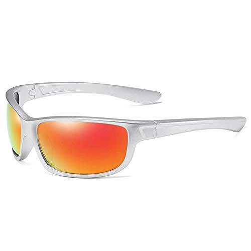 GY-Lmap Gafas de Sol polarizadas Hombres/Damas; Vintage/clásico/Marco de espectáculo Elegante; Lentes piloto HD; Golf/conducción/Pesca/Gafas de Viaje/Gafas de Sol Deportivas al Aire Libre,Blanco