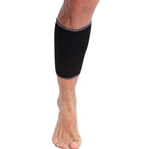 Banda de sujeción para la pantorrilla (1 Unidad) - Tejido ligero, elástico y transpirable - Para aliviar los músculos - Marca Neotech Care - Compresión media - Negro (Talla L)