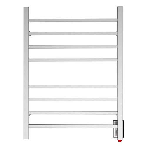 HEATGENE Towel Warmer, Heated Towel Warmer Rack, Wall-Mounted Hardwired/Plug-in Electric Towel Warmers for Bathroom, Hot Towel Rails - Brushed