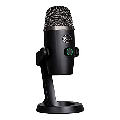 Blue Microphones 988-000401 Yeti Nano Professional Condenser USB Microphone with Multiple Pickup Patterns and No-Latency Monitoring for Recording and Streaming on PC and Mac, Black