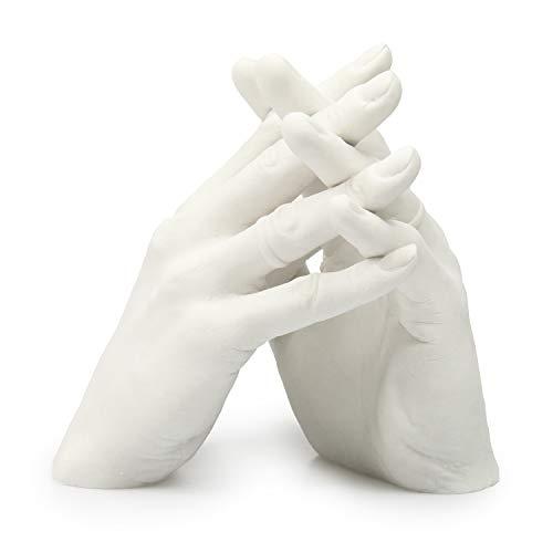 Lucky Hands® Familia y Boda Set para moldeo'Duo' | molde de yeso para bodas, familia, niños y adolescentes (sin base)
