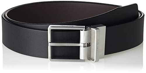 Calvin Klein Formal Rev.adj. Belt 3.5cm Cintura, Nero (Black/Brown 910), 7 (Taglia Produttore: 95) Uomo