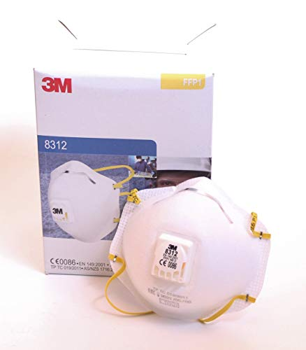Maschera Protezione Respiratoria 8312 FFP1NRD (B) . 4xAGW-Wert 3M EN149/2001 + A1 : 2009, 10 Pezzi