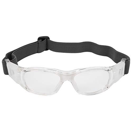 Deror Kinder Sportbrille Teenager verstellbare Fußball Radfahren Basketball Brille(White)