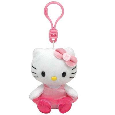Ty 7140956 - Llavero de Peluche de Hello Kitty (8,5cm), diseño de Bailarina