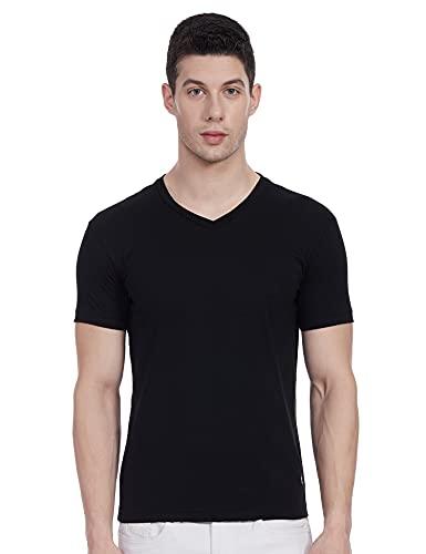 Jockey Mens Short Sleeves V Neck Slim Fit Solid T-Shirt