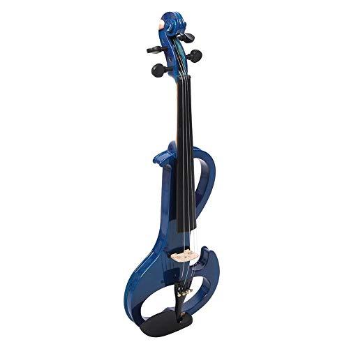 Violín profesional, exquisito conector para auriculares/micrófono de 3,7 mm, violín acústico, pastilla incorporada, intérprete para principiantes(blue)