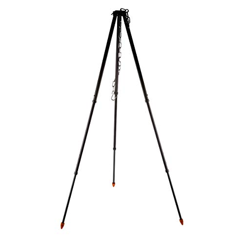 Alocs Camping Tripod, Portable Outdoor Cooking Tripod with Adjustable Hang Chain for Campfire Picnic Hanging Pot Grill Stand Aluminum Cookware Accessory Lightweight Durable (Camping Tripod)