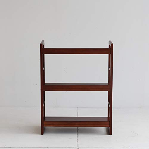 市場木製ラック3段62x27.5x80cmホワイトR-3290BR