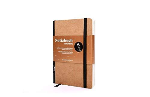 Design Notizbuch A6 Natur-Design, handgemacht Berlin, journal a6, moleskine, Skizzenbuch A6 blanko mit Gummiband, kleines Notizbuch
