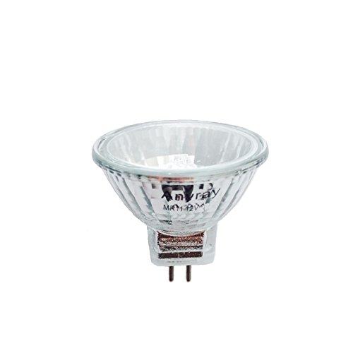 Anyray A1868Y (1-Bulb) Clear MR11 12Volt 10Watt Precision Halogen Reflector Fiber Optic Light Bulb 10W 12V