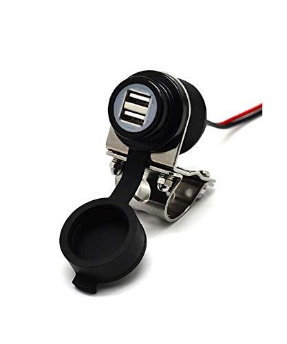 Cliff-Top® Aluminio 4.6 amperios de corriente USB Cargador universal - Kit de fuente de alimentación USB para GPS, navegación por satélite, y Smartphone, etc.