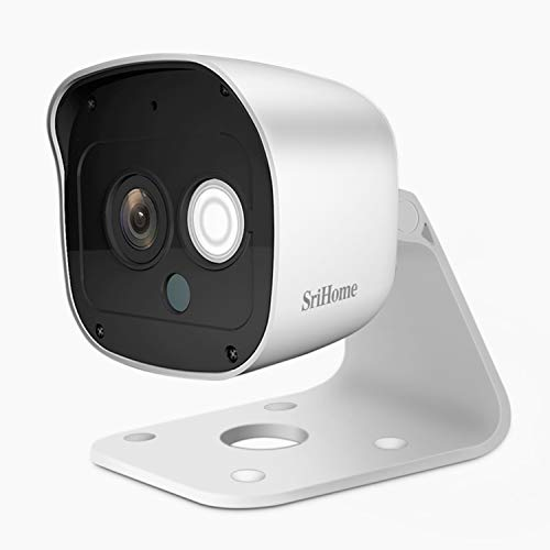 Srihome SH029 3MP Ultra HD 1296p Wireless WiFi Waterproof Indoor/Outdoor IP Security Camera CCTV with 2 Way Audio (Table Stand)