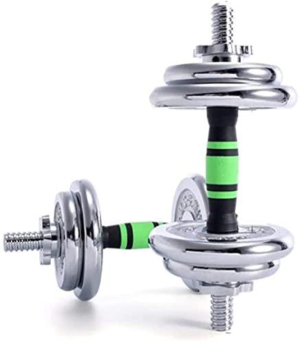 Entrenamiento Dumbbell Arm Muscle Hombres Hombros DE Mujer DE 10 KG Equipos DE FISTESS EN HOGAR Entrenamiento Conjunto DE MONTABEL