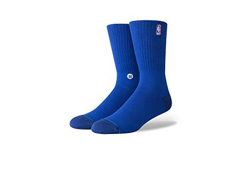 Stance - Calze NBA Stance Logoman Crew II, taglia L, colore: Blu