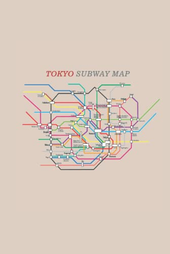 Tokyo Subway Map: Cool Novelty Gift for a Traveler ~ Small Lined Notebook (6'' X 9')
