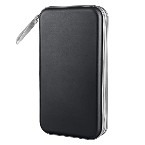 Siveit 80 Capacity Heavy Duty CD/DVD Wallet Binder, Storage, Case, Bag, Holder, Booklet (Black)