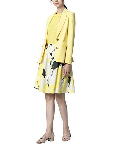 APART Fashion Blazer Chaqueta de Traje, Amarillo (Vanille Vanille), 40 ES (Talla de Fabricante : 38) para Mujer