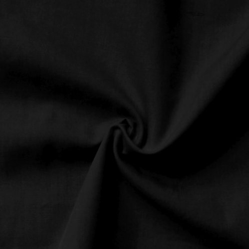 STOFFKONTOR Baumwolle Polyester wie Batist Stoff - Meterware, schwarz - zum Nähen von Dirndl, Bettwäsche, Hemden, Blusen, Dekorationen UVM.