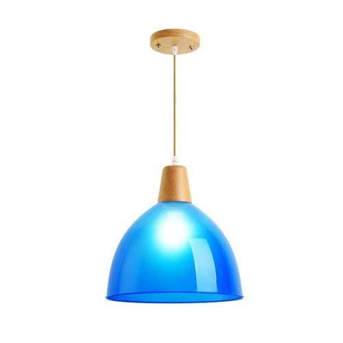 B-D Creatieve pvc-lampenkap plafondhanglamp E27 1-licht ronde houten verlichting lantaarn restaurant keuken woonkamer hanglamp kroonluchter in hoogte verstelbare binnenverlichting
