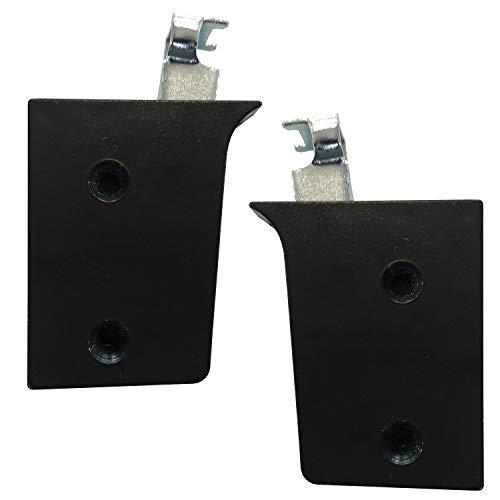 Dekati 2 x kastdrager/kasthanger/kasthouder/wandhouder/ophanging voor meubels en kasten zwart draagkracht 50 kg per houder