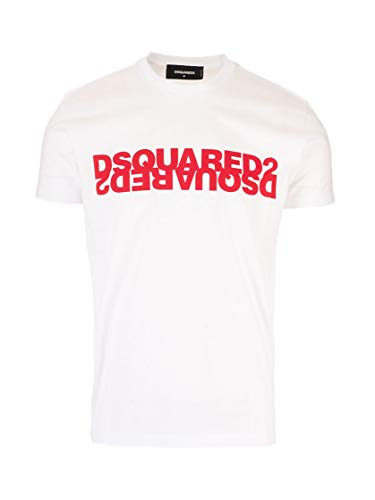 DSQUARED2 Luxury Fashion S74GD0635S22427989X - Camiseta para Hombre, Color Blanco Blanco M