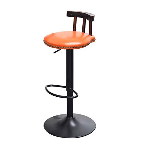 BTPDIAN Amerikaanse retro barstoel|koffiestoel|barstoel|tillen roterende barstoel|stoel hoge kruk|balie ORANJE