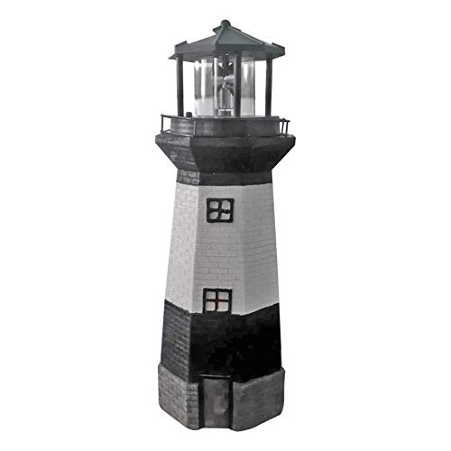Zuoox LED Lighthouse Solar Light Rotating Beacon Tower Lamp Outdoor Lighting