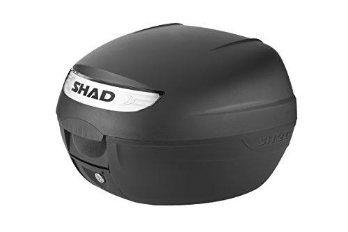 SHAD D0B26100 SH-26 Baul para motocycletas, Negro