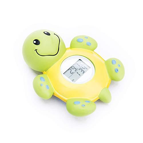 Termómetro de baño para bebés, (Rango: -20 a 60 ° C) Reloj Digital de Temperatura del Agua del baño Reloj, Juguete de baño Flotante con Forma de Tortuga para bañera con luz/Alarma de Advertencia