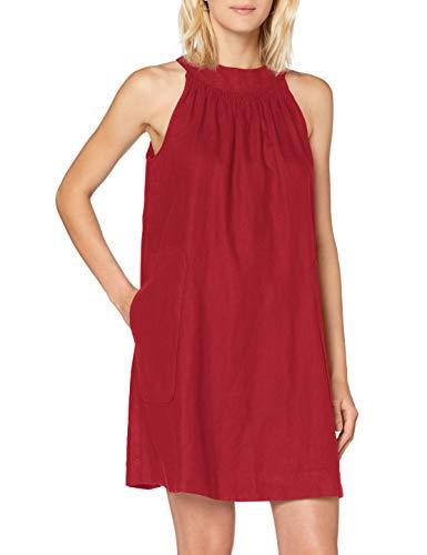 United Colors of Benetton (Z6ERJ Vestito Vestido, Dark Red 90y, S para Mujer