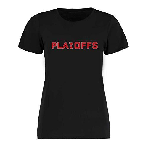 Scallywag® Eishockey Frauen T-Shirt DEL Playoffs I Größen S - XXL I Farbe schwarz, weiß, grau I offizielle Deutsche Eishockey Liga Kollektion (XL, schwarz)