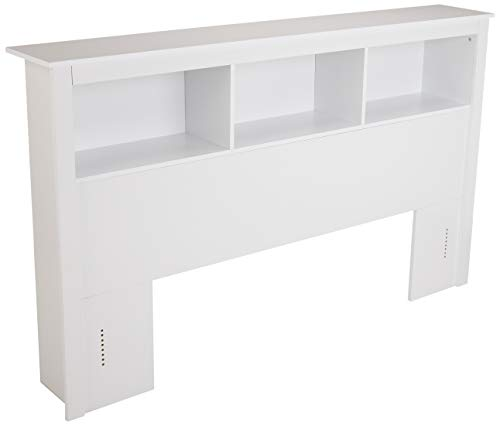 AmazonBasics Functional Bookcase Storage Headboard - Queen, White