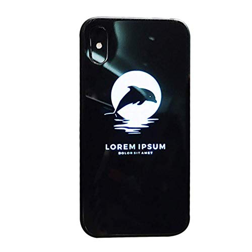Eamqrkt 1Ud. Funda Teléfono Móvil Brillante Antichoque Moderno para IPHONE 6 / 6s, Delfín