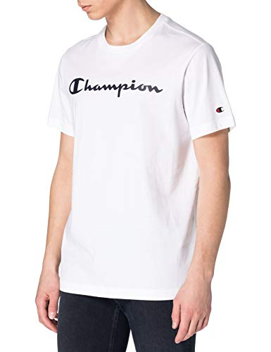 Champion Legacy Classic Logo Camiseta, Blanco, XXL para Hombre