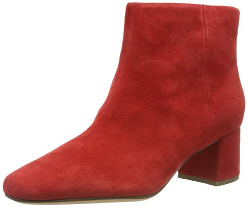 Clarks Damen Sheer Flora Chelsea Boots, Rot (Red Suede Red Suede), 39 EU