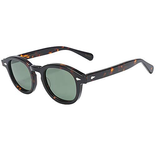 SHEEN KELLY Retro ovale Sonnenbrille für Männer Frauen Piratenkapitän Johnny Depp Stil polarisierte Linse Acetat Material