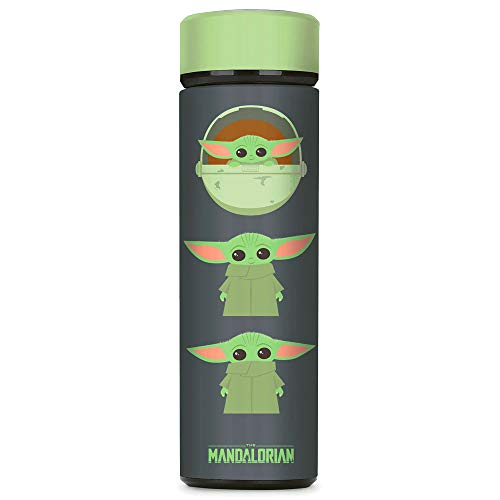 Controller Gear Baby Yoda Water Bottle-Star Wars The Mandalorian The Child, Wide Mouth, Vacuum Insulated Stainless Steel Sport Water Bottle, Leak Proof, Official Disney Merch - Not Machine Specific