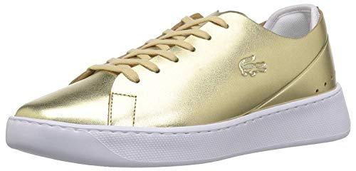 Lacoste Women's Eyyla Sneaker, Gold, 6.5 M US