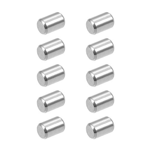 uxcell 10Pcs 4mm x 6mm Dowel Pin 304 Stainless Steel Pegs Support Shelves Silver Tone