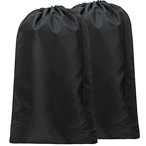 Product Image of the HOMEST 2 Pack Large Nylon Laundry Bag, Machine Washable Large Dirty Clothes Organizer, Easy Fit a Laundry Hamper or Basket, Can Carry Up to 4 Loads of Laundry, Black