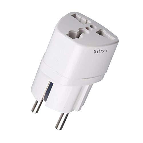 Milter Universal Adapter auf Deutschland DE Steckdose, UK/US/AU nach EU Europe Travel Power Adapter Steckdosen-Konverter