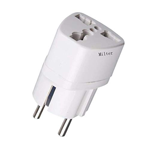 Milter Universal Adapter auf Deutschland DE Steckdose, UK/US/AU nach EU Europe Travel Power Adapter Steckdosen-Konverter