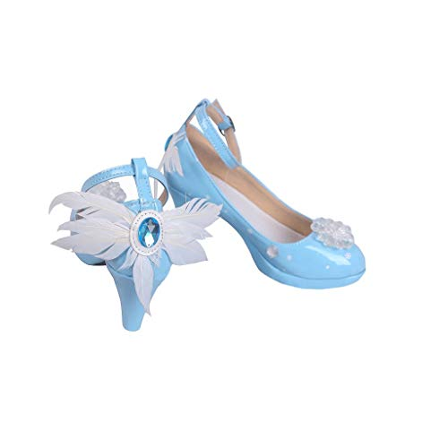 DUNHAO COS Anime Hatsune Miku Halloween Cosplay Custom Shoes Boots Male US 8/EU41 Blue