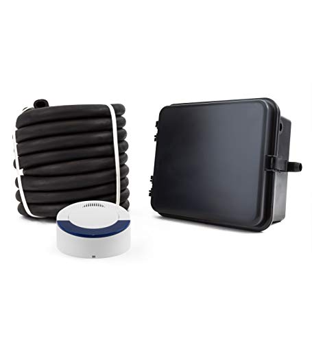 Dakota Alert DCRH-4000 Wireless Driveway Alarm System - DCR-4000 Receiver and DCHT-4000 Transmitter Box with 25-FT Rubber Hose Vehicle Sensor - Up to 1 Mile Operating Range
