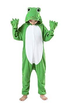 CANASOUR Christmas Costumes Anime Cosplay Animal Kids One Piece Pajamas  10 125#  Frog Green