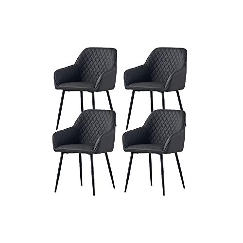 AINPECCA Esszimmerstühle 4er Set Kunstleder Wohnzimmerstühle Sessel PU Konferenzraumstühle (FPU Grau, 4)